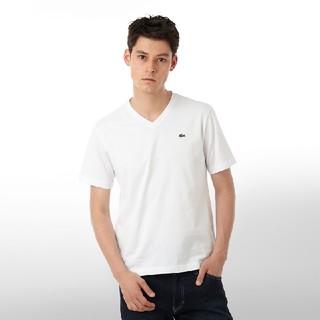 ラコステ(LACOSTE)のLACOSTE ラコステ ワンポイント半袖VネックTシャツ ホワイト メンズ(Tシャツ/カットソー(半袖/袖なし))