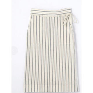 マカフィー(MACPHEE)のリネンレーヨン ハイウエストIラインスカート(ひざ丈スカート)