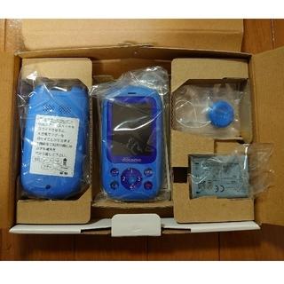フジツウ(富士通)のドコモ F-03J キッズケータイ(ブルー)未使用(携帯電話本体)