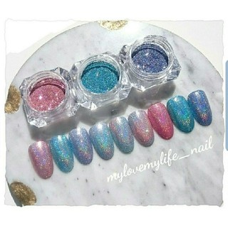 pastel♡レインボーグリッター 3色set