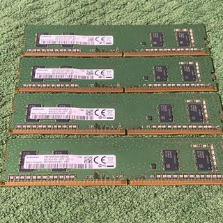 SAMSUNG - DDR4-2400 4GB×4枚 計16GB デスクトップ用メモリー