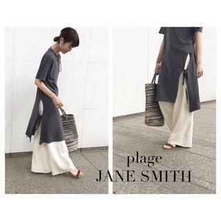 Plage - plage JANE SMITH スリット入りビッグロングTシャツワンピース