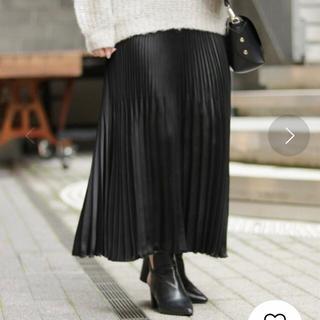 シンプリシテェ(Simplicite)の【simplicite】ピーチサテンプリーツスカート フリーサイズ(ロングスカート)