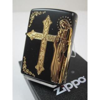 ジッポー(ZIPPO)のZippo マリア クロス・Maria&Cross GD ゴールド 金・2面柄(タバコグッズ)