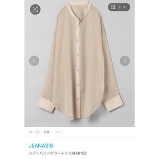 JEANASIS - JEANASIS シアーバンドカラーシャツ