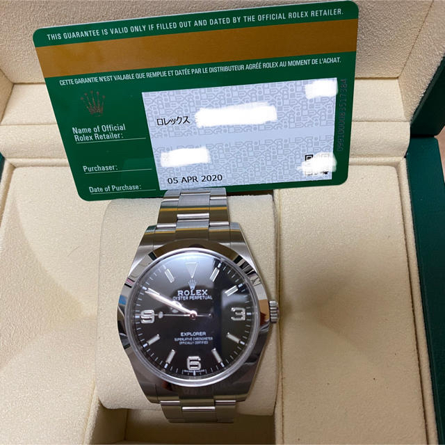 ROLEX(ロレックス)のato3r様専用① エクスプローラ 214270  2020/4ギャラ メンズの時計(腕時計(アナログ))の商品写真