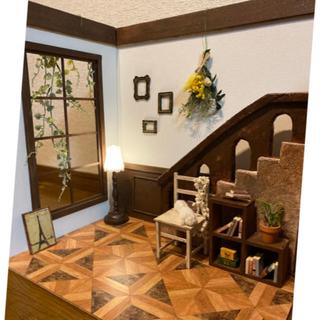 週末限定価格☆組立式ドールハウス リバーシブル 階段のあるお部屋 No.156(その他)