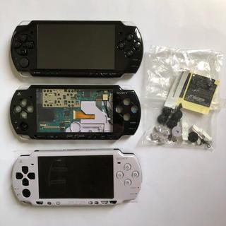 プレイステーションポータブル(PlayStation Portable)のPSP 2000 本体 3台セット ジャンク ラベンダーパープル ブラック(携帯用ゲーム機本体)