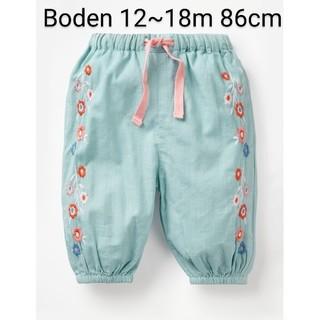 ボーデン(Boden)のBoden 花柄刺繍パンツ 86cm(パンツ)