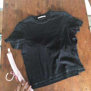 アクネ(ACNE)のAcne back ribbon T shirt.(Tシャツ(半袖/袖なし))