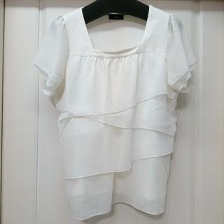 アールユー(RU)の値下げ!ru 大きいサイズ ホワイト半袖カットソー(カットソー(半袖/袖なし))