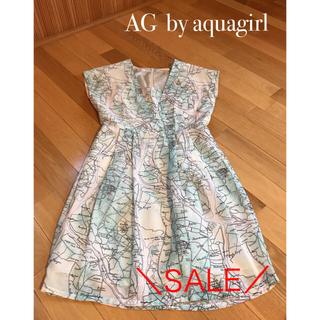 AG by aquagirl - \AG  by aquagirl  / 地図柄のオシャレなワンピース♪