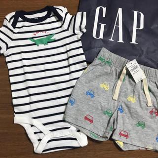 babyGAP - ギャップ70☺︎くまさんロンパース、ショートパンツ  プチバトー、ラルフ好きに