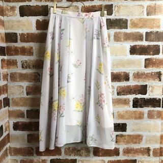 Noela - 【Noela】花柄タックシフォンフレアスカート