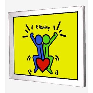 59-Keith Haring キースへリング キャンバスアート 模写(ボードキャンバス)
