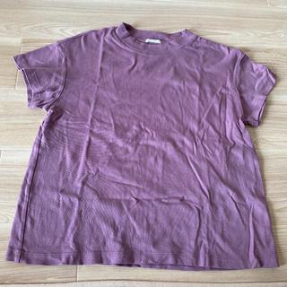 ジーユー(GU)のGU*スムースT L*パープル Tシャツ 美品(Tシャツ(半袖/袖なし))