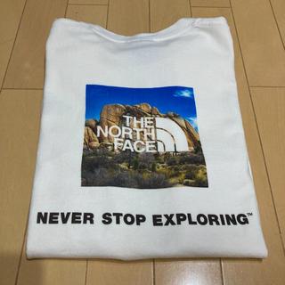 THE NORTH FACE - ザ ノースフェイス ショートスリーブ スクエアロゴ Tシャツ ホワイト Lサイズ