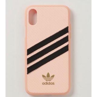 アディダス(adidas)のアディダス iPhoneXケース ピンク(iPhoneケース)