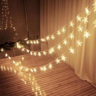 イルミネーションライト 飾り 星型 結婚式 キャンプ フェアリーライト(ライト/ランタン)