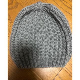 エイチアンドエム(H&M)のH&M ニット帽 ニットキャップ ピーニー 帽子 グレー(ニット帽/ビーニー)