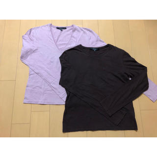 グッチ(Gucci)のグッチ 長袖 Tシャツ ピンク ブラウン カットソー トップス シンプル(Tシャツ(長袖/七分))
