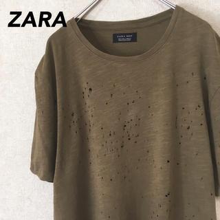ザラ(ZARA)のZARA ザラ 半袖 Tシャツ 古着 ダメージ加工 メンズ レディース M(Tシャツ/カットソー(半袖/袖なし))
