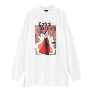 ジーユー(GU)のGUロングスリーブT(長袖)Disney2Y+E 101匹わんちゃん サイズXS(Tシャツ(長袖/七分))