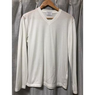 エディフィス(EDIFICE)のエディフィス Vネック Tシャツ 長袖(Tシャツ/カットソー(七分/長袖))