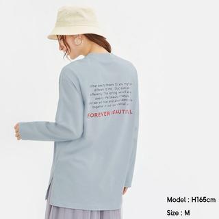 ジーユー(GU)のGUグラフィックロングスリーブT(長袖)A サイズXS(Tシャツ(長袖/七分))