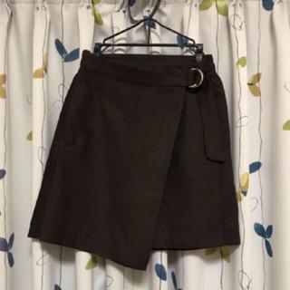 ジーユー(GU)のGU スカート Mサイズ 台形 ミニ 茶色 ブラウン レディース 服(ミニスカート)