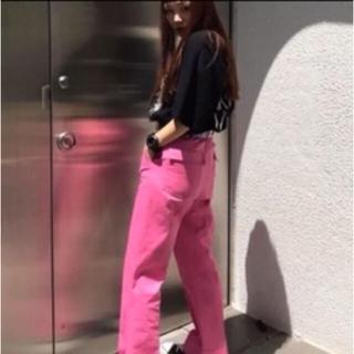 エックスガール(X-girl)のX-girl ピンク パンツ(カジュアルパンツ)