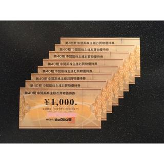 8,000円分 ビックカメラ株主優待券 (ショッピング)