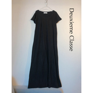 DEUXIEME CLASSE - 【Deuxieme Classe 】コットンリネンロングワンピース ブラック