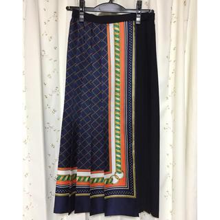 マカフィー(MACPHEE)のMACPHEE マカフィー 柄スカート スカーフ柄 巻きスカート (ロングスカート)