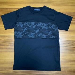 nano・universe - 【未使用】ナノユニバース (Sサイズ) 迷彩 カモフラ Tシャツ 黒 ブラック