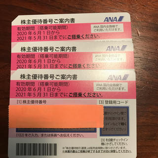 ANA(全日本空輸) - 全日空株主優待券3枚