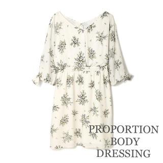 PROPORTION BODY DRESSING - プロポーションボディドレッシング フラワーブーケワンピース 花柄ワンピース