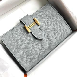 Hermes - 新品未使用♡エルメス ベアンミニ ブルーグラシエ エプソン コインケース 財布