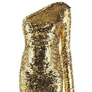 Versace Jeans Couture - スパンコール ワンショルダードレ(ロングドレス)