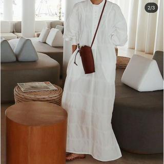 Drawer - 新品未使用 MACHATT ジャガードシャツドレス ホワイト