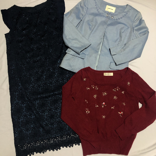 tocco - tocco closet バックリボンレースワンピース