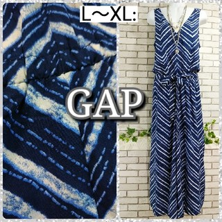 GAP - L~XL: 新品 ガウチョ オールインワン/ギャップ★未使用★ブルー系