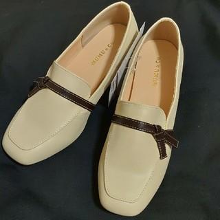 シマムラ(しまむら)のしまむら※MUMU  リボン付きローファー(淡白)Mサイズ(ローファー/革靴)
