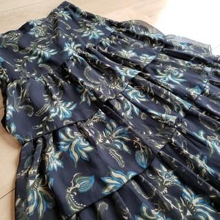 SCOT CLUB - SCOT CLUB スコットクラブ 総柄ティアードスカート 日本製