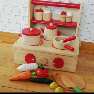 木製 ニチガン キッチン おままごと