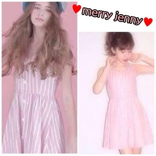 merry jenny - 新品 紙タグあり♥️ merry jenny メリージェニー ロゴワンピース