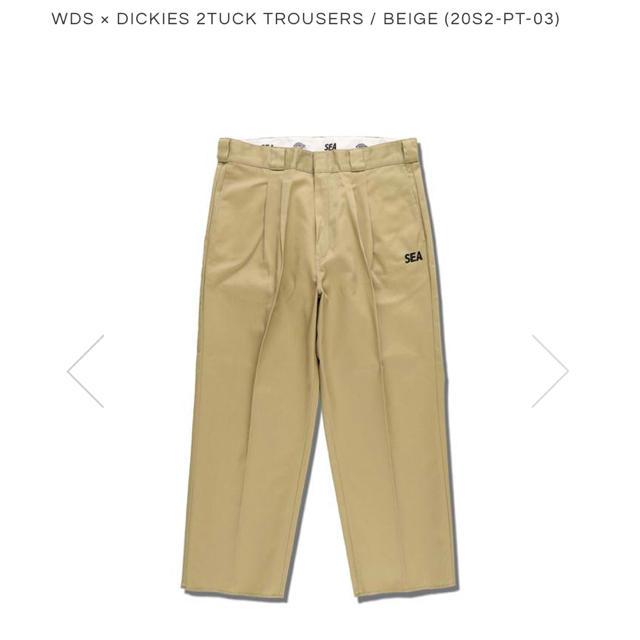 Dickies(ディッキーズ)のWDS × DICKIES 2TUCK TROUSERS / BEIGE メンズのパンツ(ワークパンツ/カーゴパンツ)の商品写真