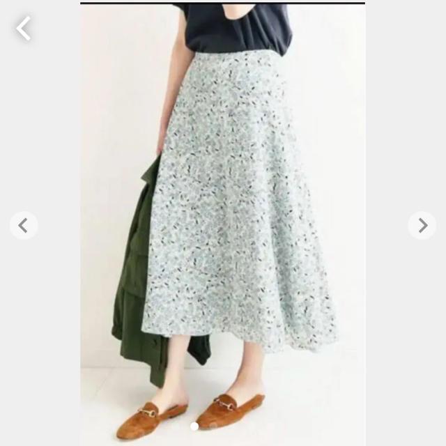 IENA(イエナ)のイエナ  フラワープリントスカート  ナチュラル 38 レディースのスカート(ロングスカート)の商品写真