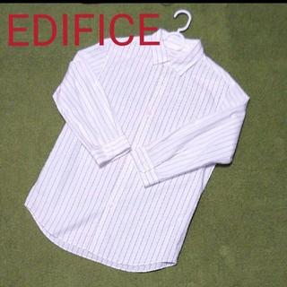 エディフィス(EDIFICE)の美品☆エディフィス タイプライター 7分袖シャツ(シャツ)
