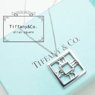 Tiffany & Co. - 新品仕上げ TIFFANY ティファニー アトラス スクエア ネックレス